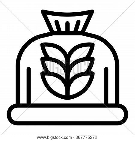 Bag Of Flour Icon. Outline Bag Of Flour Vector Icon For Web Design Isolated On White Background