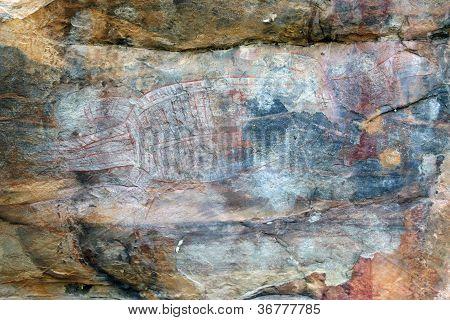 Ubirr Crocodile Rock Art