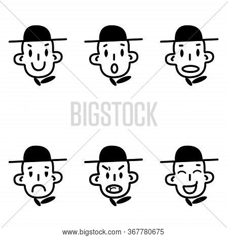 Smiley Emotions Set. Faces Stock Vector Illustration