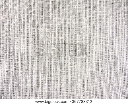 Fabric texture. Close-up natural linen texture of gray color. Square background with cloth pattern of grey color