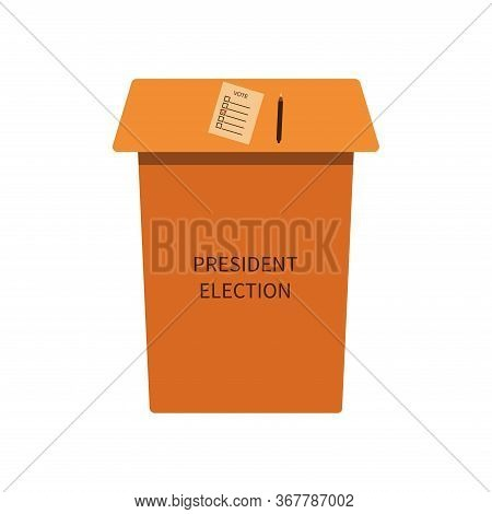 Rack To Fill In A Sheet With A List Of Presidential Candidates. Presidential Election 2020. Ballot I