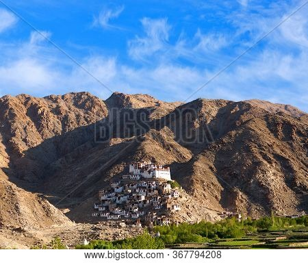Chemrey Monastery In Nubra Valley, Ladakh, Jammu And Kashmir State Of India. It Is A Buddhist Monast