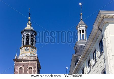 Historic Towers In The Center Of Kampen, Netherlands
