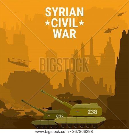 Civil War Syria Self Propelled Artillery Mount