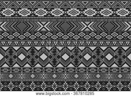 Ikat Pattern Tribal Ethnic Motifs Geometric Seamless Vector Background. Graphic Ikat Tribal Motifs C