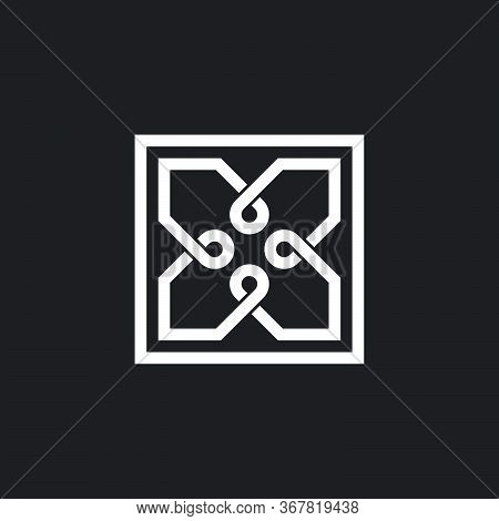Infinity Overlapping Line Wires Design Symbol Logo Vector