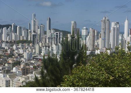 Balneario Camboriu, Santa Catarina, Brazil - November 19, 2019: View Of Balneario Camboriu Skyline,