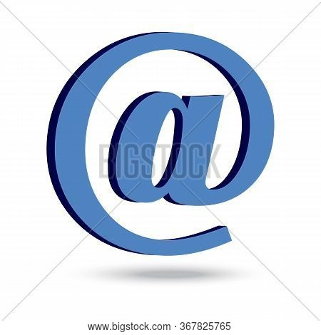 Sign Of Mail. Vector Letter Or Contact Icon. Stock Photo.