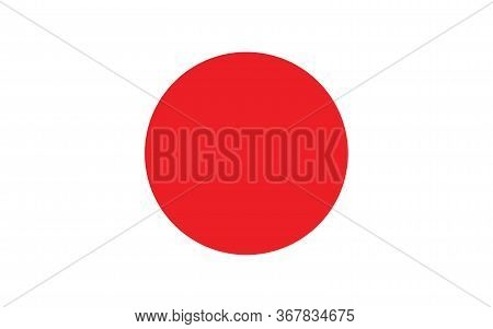 Japan Flag Vector Graphic. Rectangle Japanese Flag Illustration. Japan Country Flag Is A Symbol Of F