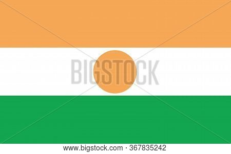 Niger Flag Vector Graphic. Rectangle Nigerien Flag Illustration. Niger Country Flag Is A Symbol Of F