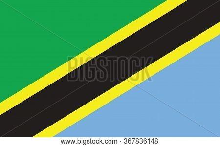 Tanzania Flag Vector Graphic. Rectangle Tanzanian Flag Illustration. Tanzania Country Flag Is A Symb