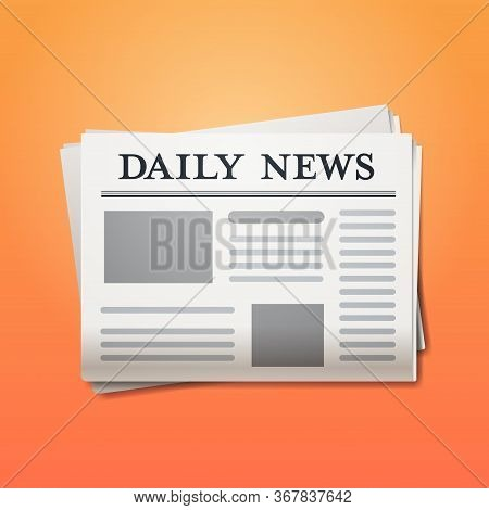 Daily News Newspaper Breaking News Headline Press Mass Media Concept Vector Illustration