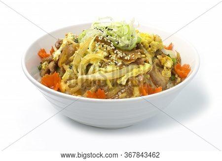 Butadon Or Stir Fried Pork And Egg On Rice