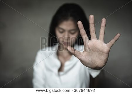 Stop Sexual Harassment And Violence Against Women, Rape And Sexual Abuse Concept, The Concept Of Sto