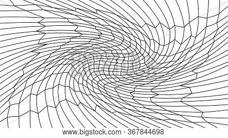 Wave Art Lines Pattern Abstract For Background, Optical Line Wave Twirl, Dynamic Motion Curve Of Lin