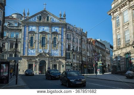 PORTO, PORTUGAL - MAY 24, 2020: Empty streets Porto. After two months of quarantine imposed in connection with covid-19 coronavirus pandemic, Portugal is gradually beginning to lift restrictions.