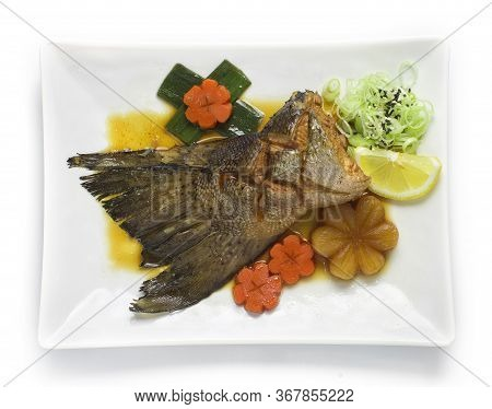 Salmon Tail In Soy Sauce Soup