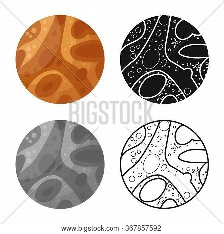 Vector Illustration Of Mars And Orb Icon. Web Element Of Mars And Star Stock Vector Illustration.