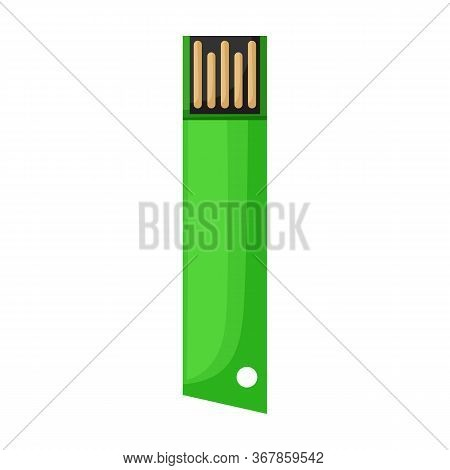 Usb Vector Icon.cartoon Vector Icon Isolated On White Background Usb.