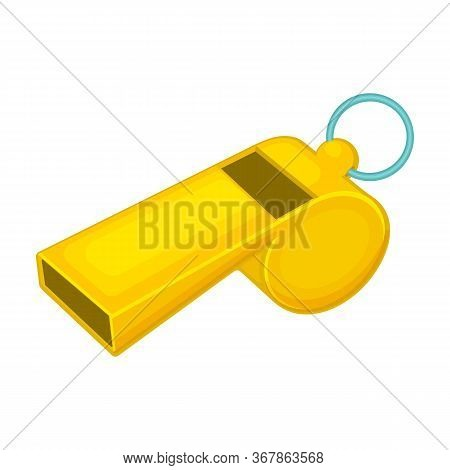 Whistle Vector Icon.cartoon Vector Icon Isolated On White Background Whistle.