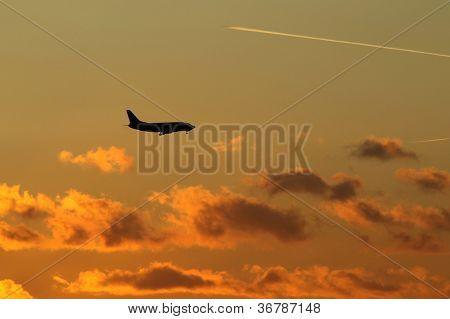Landing of airplane