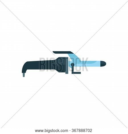 Icon Of Hair Curling Iron. Hairstylist, Barbershop, Hairdressing Salon. Hairdresser Tools Concept. C