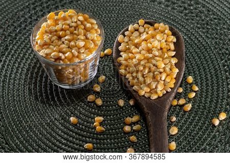 Popcorn Kernels. Popcorn Is A Little Different From The Usual, As It Pops If Heated In A Popcorn Mak