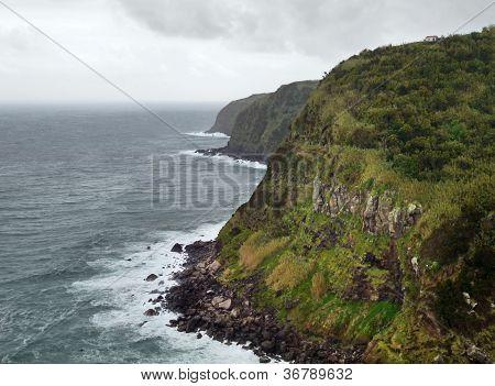 Cliffy Coastal Scenery At The Azores
