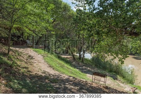 A Picnic Spot Next To The Modder River At River Of Joy Near Bloemfontein