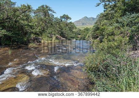 The Mahai River Cascading Over Rocks Upstream From The Cascades