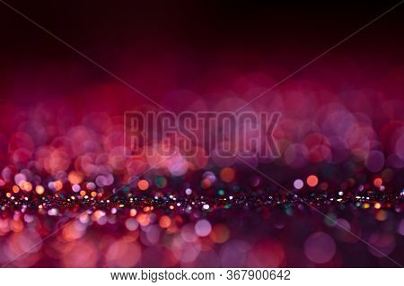 Festive Twinkle Glitters Background, Abstract Glowing Backdrop With Circles, Modern Design Wallpaper