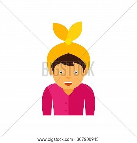 Man Wearing Retro-styled Handkerchief On Head. Headscarf, Headwear, Retro Style. Handkerchief Style