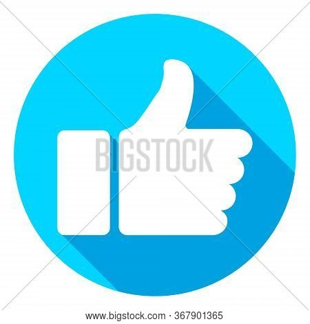 Thumb Up Icon. Vector Like And Love Icon. Ready Like And Love Button For Website And Mobile App