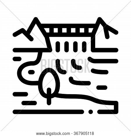 Flowing River Icon Vector. Flowing River Sign. Isolated Contour Symbol Illustration
