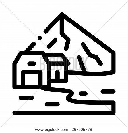 Residential Buildings In Highlands Icon Vector. Residential Buildings In Highlands Sign. Isolated Co