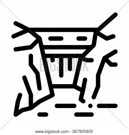 Rocky Terrain Icon Vector. Rocky Terrain Sign. Isolated Contour Symbol Illustration