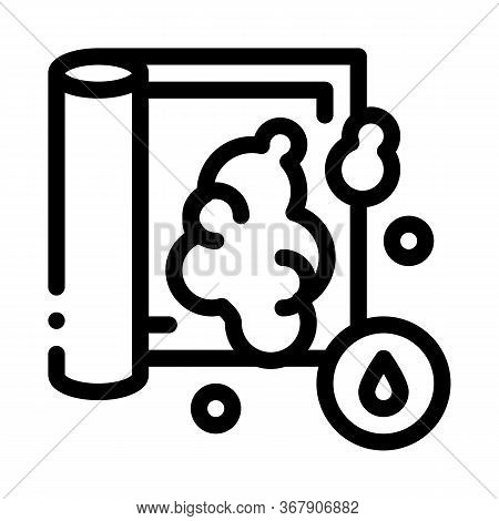 Water Soapy Carpet Cleaning Icon Vector. Water Soapy Carpet Cleaning Sign. Isolated Contour Symbol I