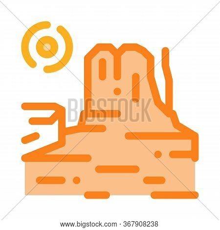Rocky Gorge Icon Vector. Rocky Gorge Sign. Color Symbol Illustration