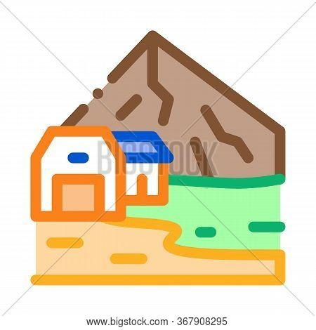 Residential Buildings In Highlands Icon Vector. Residential Buildings In Highlands Sign. Color Symbo