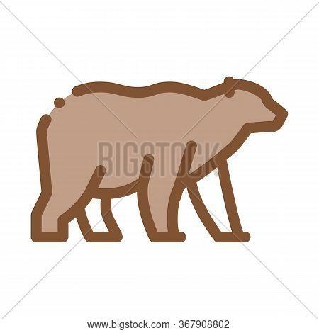 Malaysian Bear Icon Vector. Malaysian Bear Sign. Color Symbol Illustration