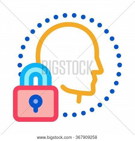Human Immunity Protection Icon Vector. Human Immunity Protection Sign. Color Symbol Illustration