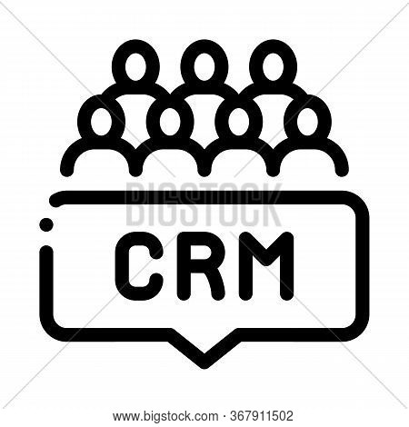 Customer Relationship Management Icon Vector. Customer Relationship Management Sign. Isolated Contou