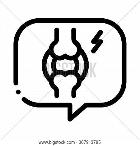 Message Thought Of Arthritis Icon Vector. Message Thought Of Arthritis Sign. Isolated Contour Symbol