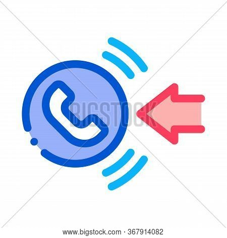 Help Desk Incoming Call Icon Vector. Help Desk Incoming Call Sign. Isolated Contour Symbol Illustrat