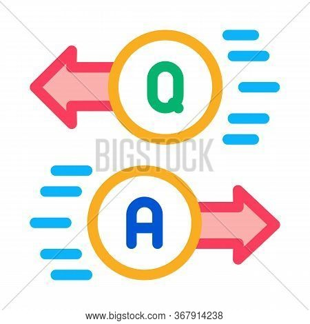 Question Answer Icon Vector. Question Answer Sign. Isolated Contour Symbol Illustration