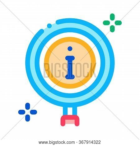 Informational Study Icon Vector. Informational Study Sign. Isolated Contour Symbol Illustration