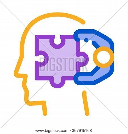 Human Search Engine Optimization Icon Vector. Human Search Engine Optimization Sign. Isolated Contou