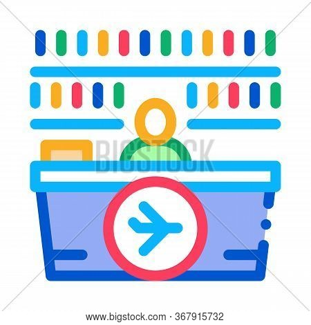 Appearance Of Duty Free Counter Icon Vector. Appearance Of Duty Free Counter Sign. Isolated Contour