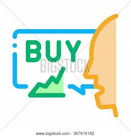 Person Buyer Icon Vector. Person Buyer Sign. Isolated Contour Symbol Illustration