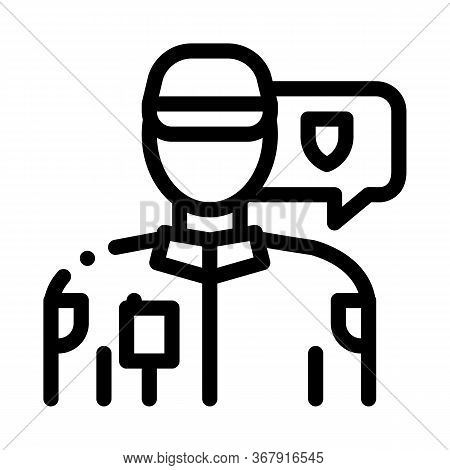 Police Officer Icon Vector. Police Officer Sign. Isolated Contour Symbol Illustration